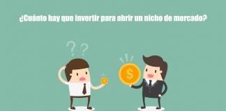 cuánto hay que invertir para empezar un nicho de mercado
