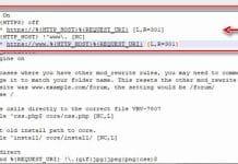 Código correcto para redireccionar de HTTP a HTTPS