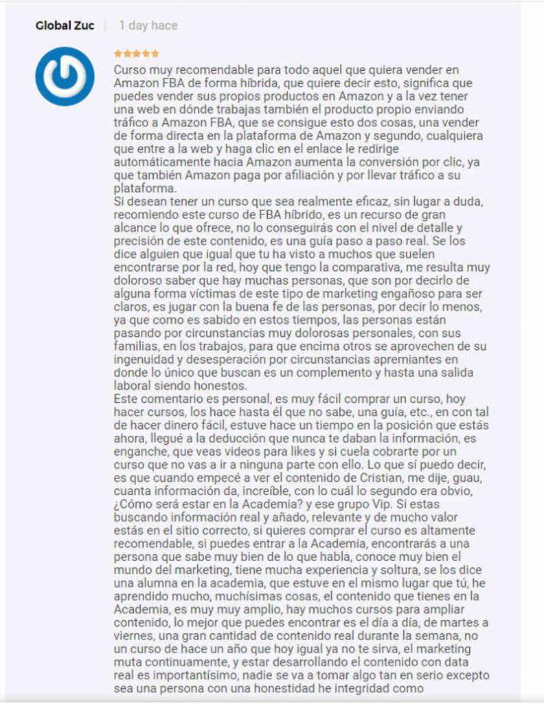 Opiniones curso Amazon FBA Posonty