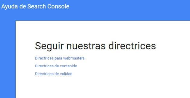 directrices-de-google-SEO
