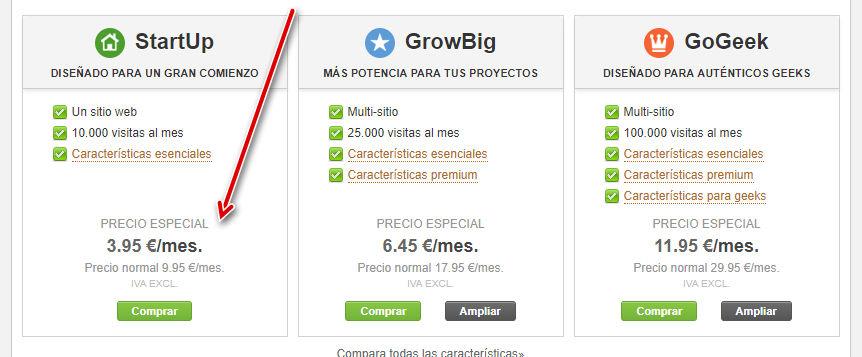 Mejores ofertas de Siteground