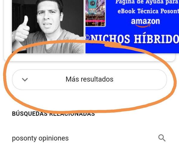 Opción más resultados en Google