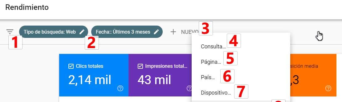 Filtros Google Search Console 2020